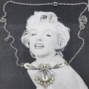 Vintage sterling silver CZ necklace